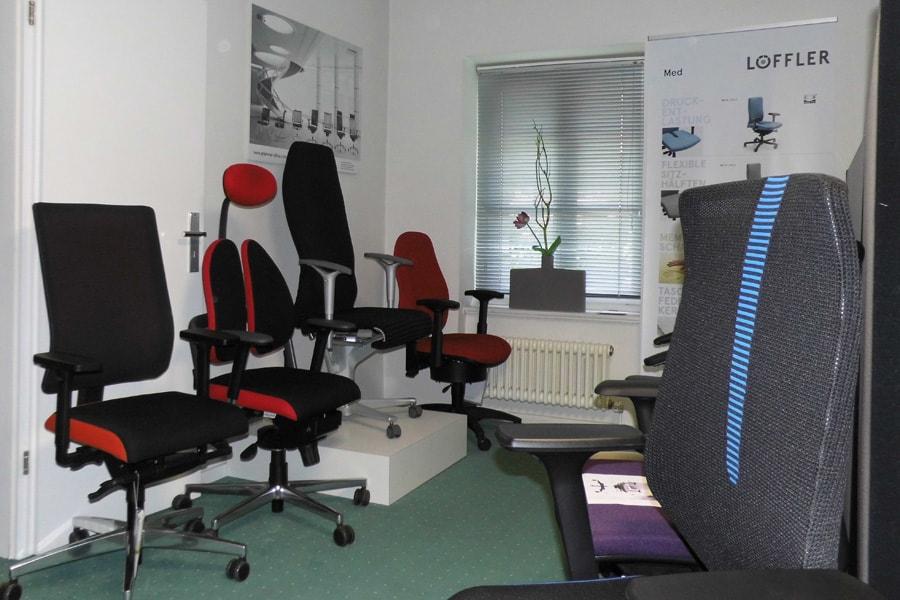 Bürostuehle showroom auswahl