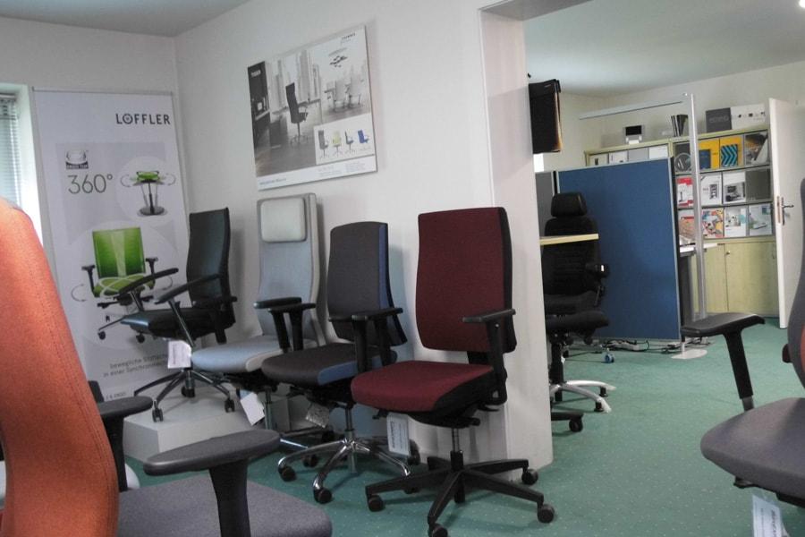 stuhl auswahl showroom