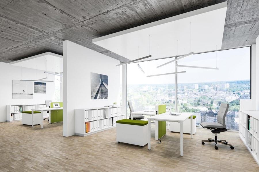 Bürolandschaft moderne einrichtung