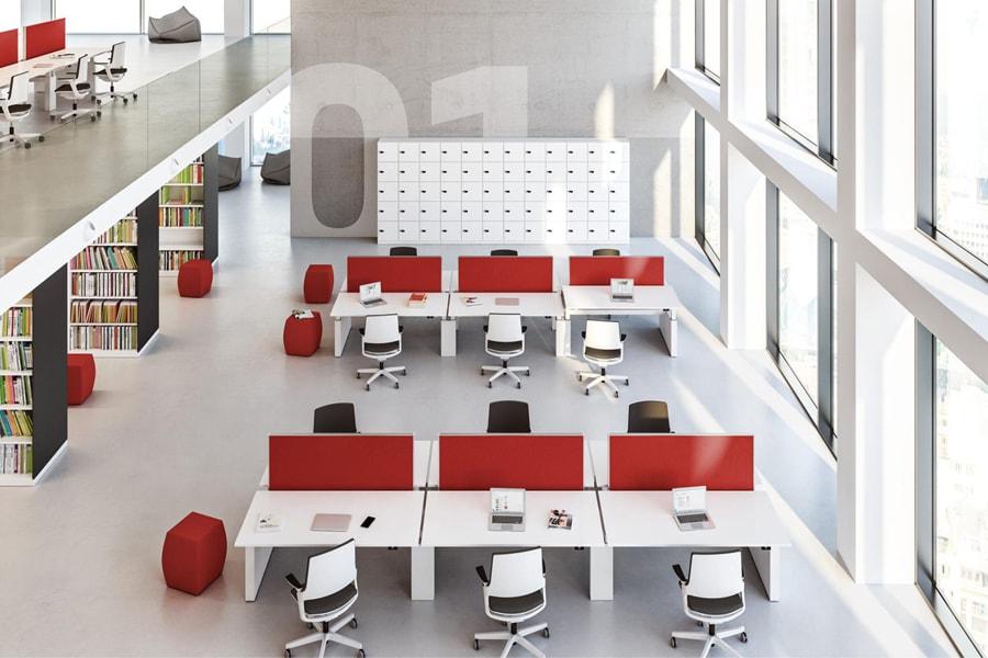 einrichtungsbeispiel Bürolandschaft