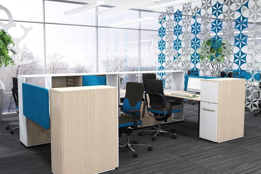 modern eingerichtetes Büro